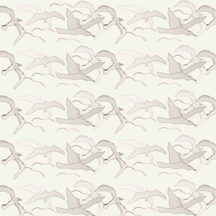repeat bird pattern from initial drawings - wallpaper design / can also be printed onto any fabric
