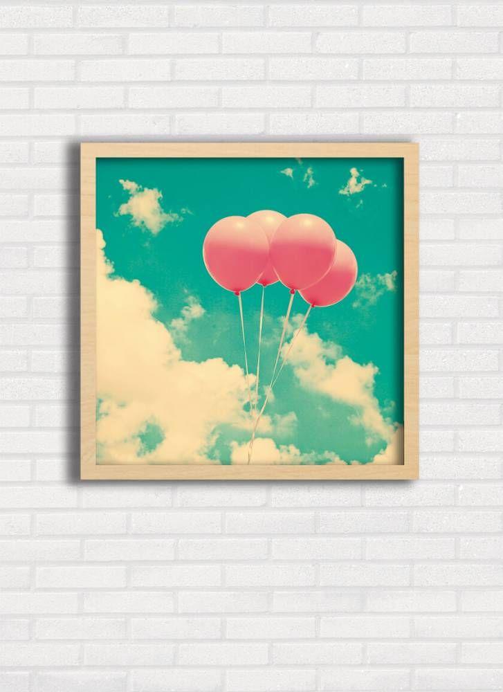 Poster Balões no Céu Azul - Top Quadros