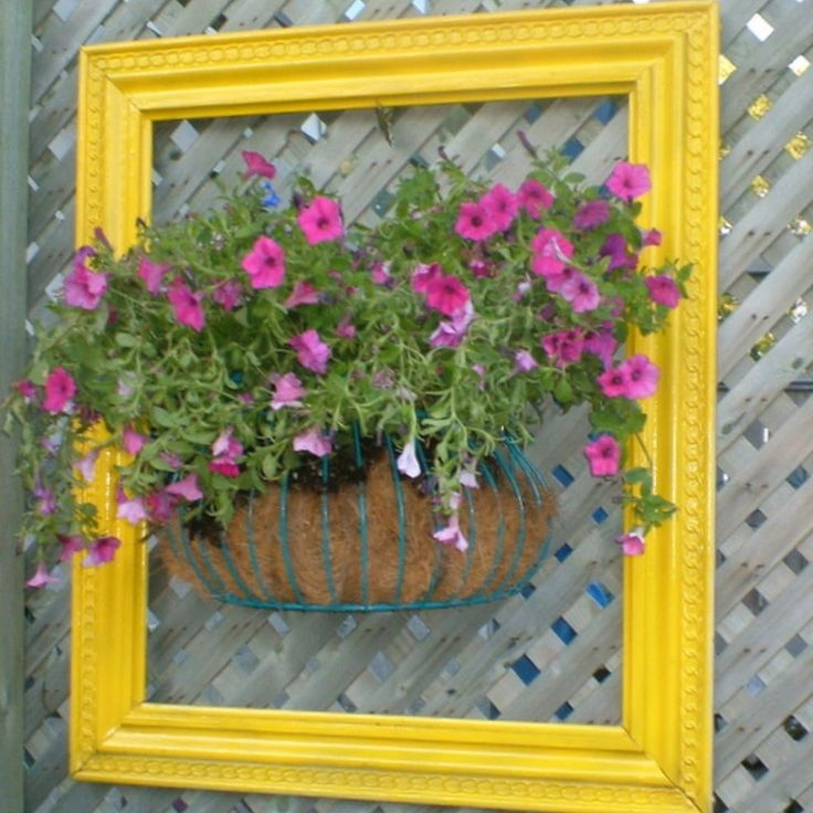 Framing a Planter of Flowers