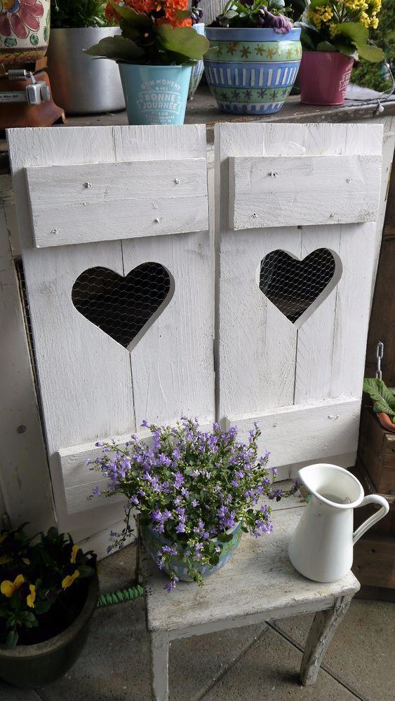 Luxury Details zu Set Shabby chic Landhaus Skandinavien Fensterl den altwei Patina Holz Wanddeko