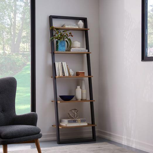 Leiter Bücherregal – Breit (Weiß / Espresso)   – decor ideas.
