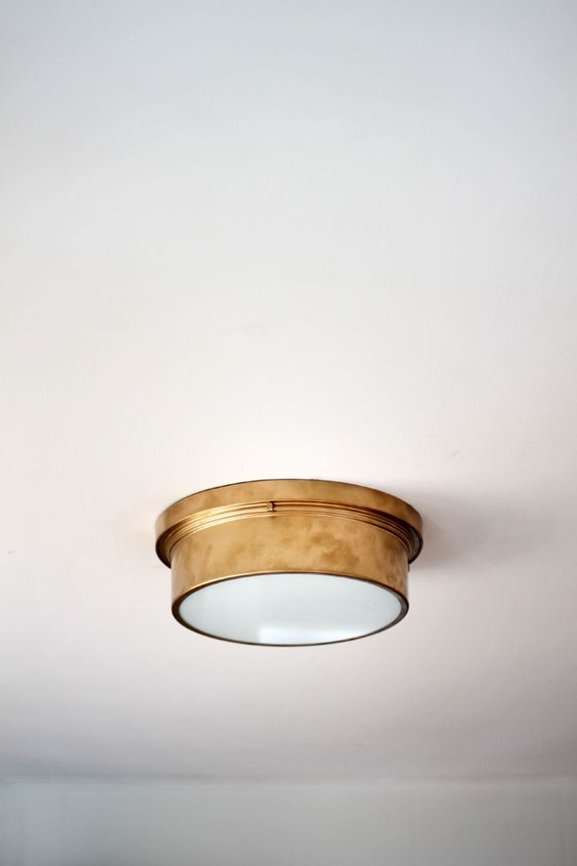 $45 Flush Mount Light Fixture Via @Home Depot