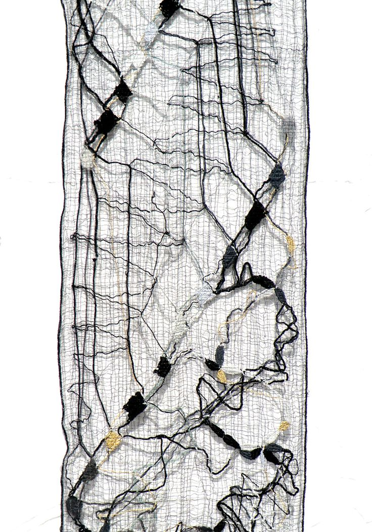 bobbin lace sarf, made by Uli Baysie