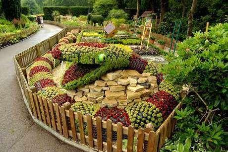 İlginç bir bahçe tasarımı