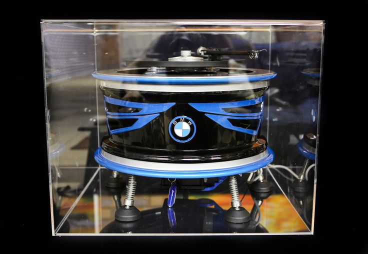 Custom Turntable BMW i8 concept by Vinyl Revival, painted by PAZ.