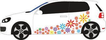 Auto stickers - Bloemen auto sticker bestellen? :: Dr.Sticker