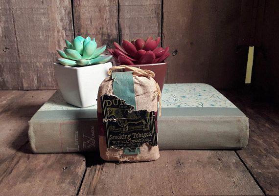 Vintage Genuine Bull Durham Smoking Tobacco Pouch/Sack Bag