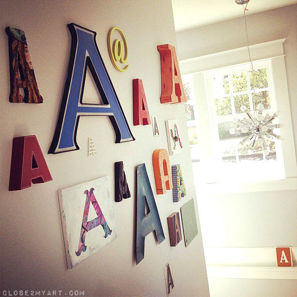 Wall decor letter ideas diy diy stuff pinterest for Diy wall decor ideas pinterest