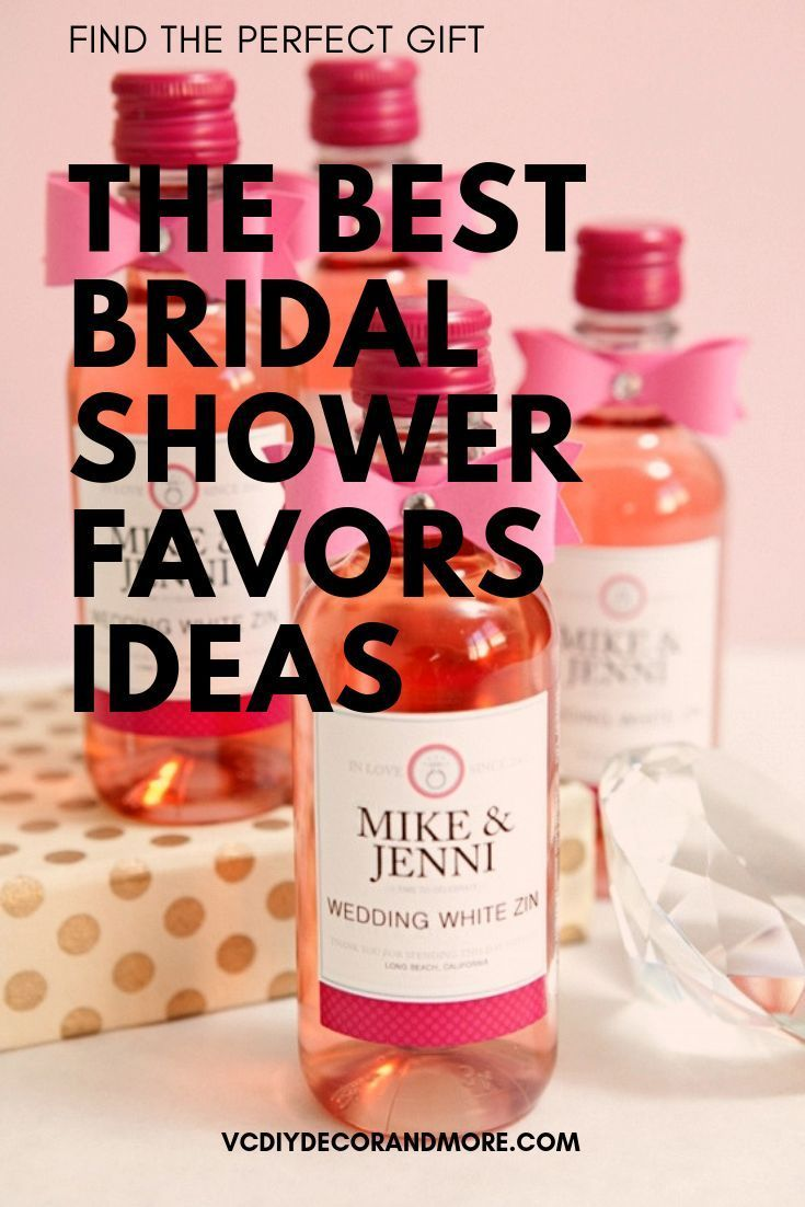 The Best Bridal Shower Favor Ideas That Are Creative Unique And Cheap Get Wedding Unique Bridal Shower Favors Bridal Shower Favors Diy Unique Bridal Shower