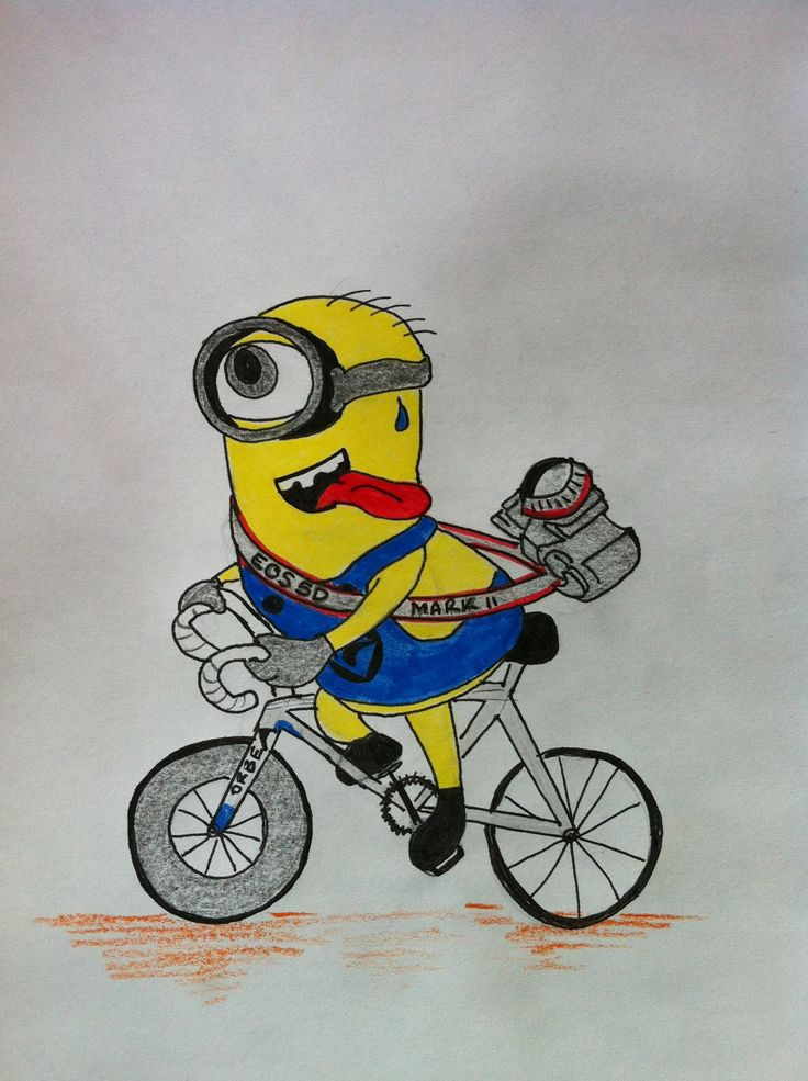 If Minions had longer legs... Cyclist Minion ®* MiNiOnS