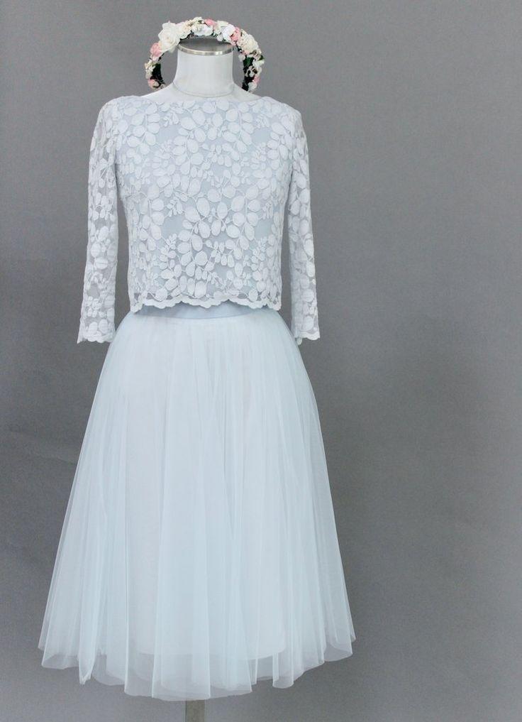 Tüllrock lang, Blau, im Boho Stil – Anais – noni – Brautkleider und Hochzeitskl…