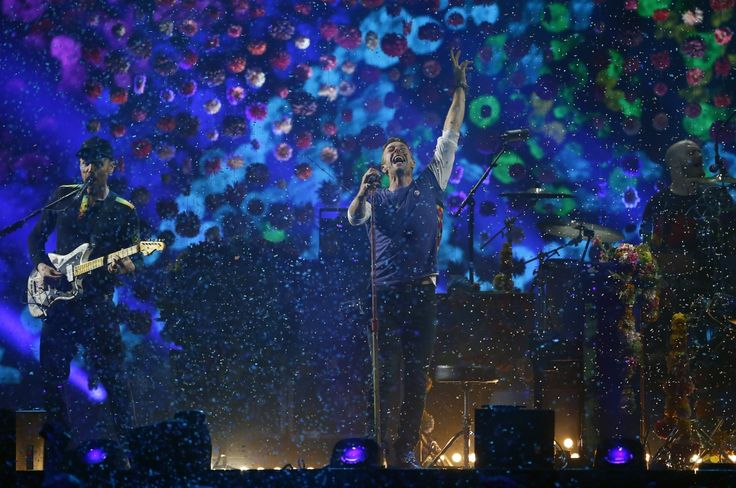 British rock band Coldplay perform at the BRIT Awards at the O2 arena in London, Britain, February 24, 2016.