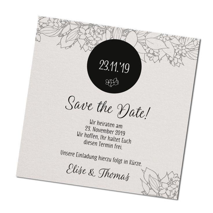 Festliche Save the Date Karte online bestellen
