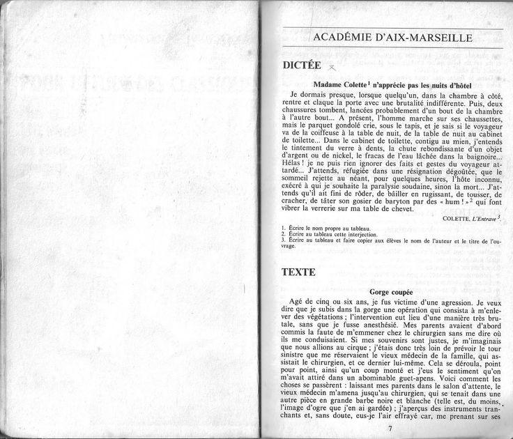 Manuels anciens: Brevet des collèges Français 1988