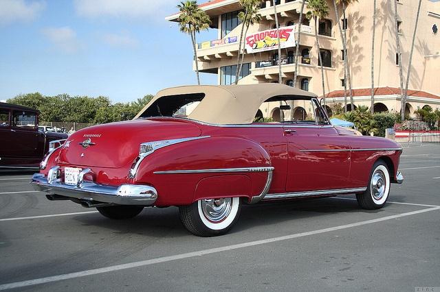 1950 Oldsmobile 88 cnv - red - rvr by Rex Gray, via Flickr