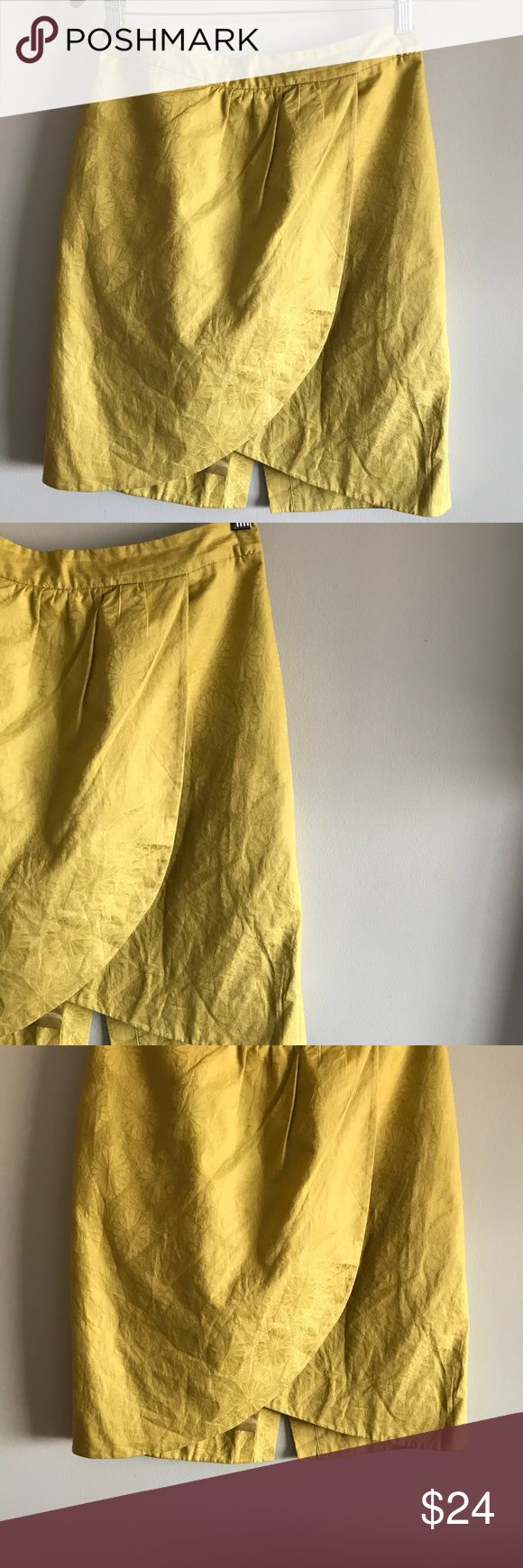 Anthropologie yellow tulip skirt size 4 Cute Anthropologie skirt from brand Edme & Esyllte in a tulip style. Bundle with other items from my closet for the best deal! Anthropologie Skirts Midi