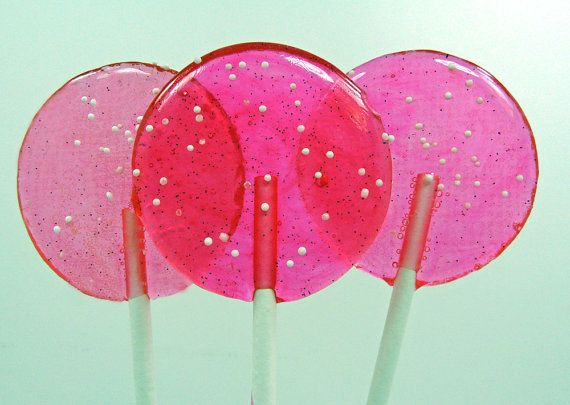 Pink Cotton Candy  Nostalgia Lollipop  girlie by TheGroovyBaker, $10.00