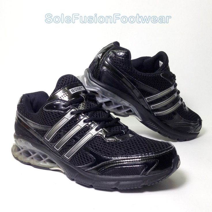 adidas Mens Boost Running Trainers Black sz 9.5 Bounce Sneakers US 10 EU 44  Rare