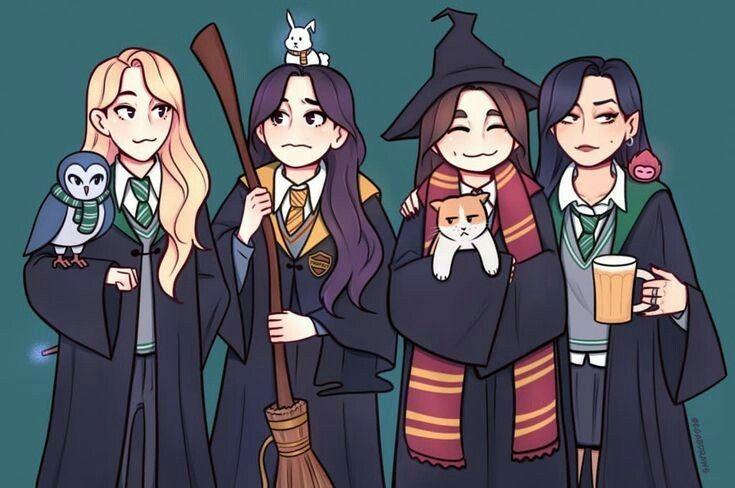 Pin By Marcelee Green On Mamamoo In 2020 Harry Potter Fan Art Mamamoo Kpop Fanart