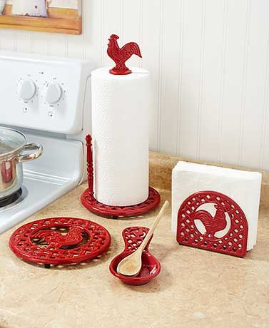 Cast Iron Rooster Collection