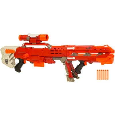 nerf recon cs6 speshil adishin | Red Nerf N-Strike Longshot CS-6
