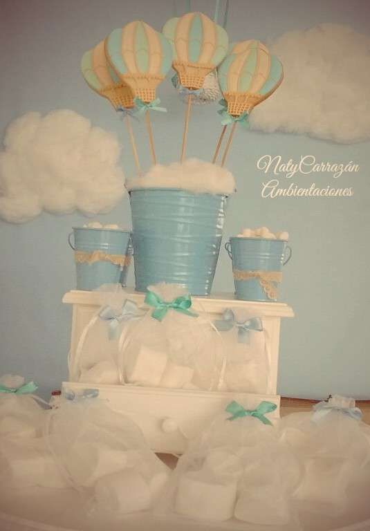 Amazing hot air balloon cookie pops! See more party planning ideas at CatchMyParty.com!