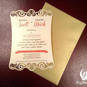 Exkluzív mintás lézervágott esküvői meghívó  #lézervágott #esküvői #meghívó #esküvőimeghívó #lasercutting #wedding #weddinginvitations