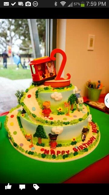 Daniel Tiger Birthday Cake Derek 2 Birthday Pinterest