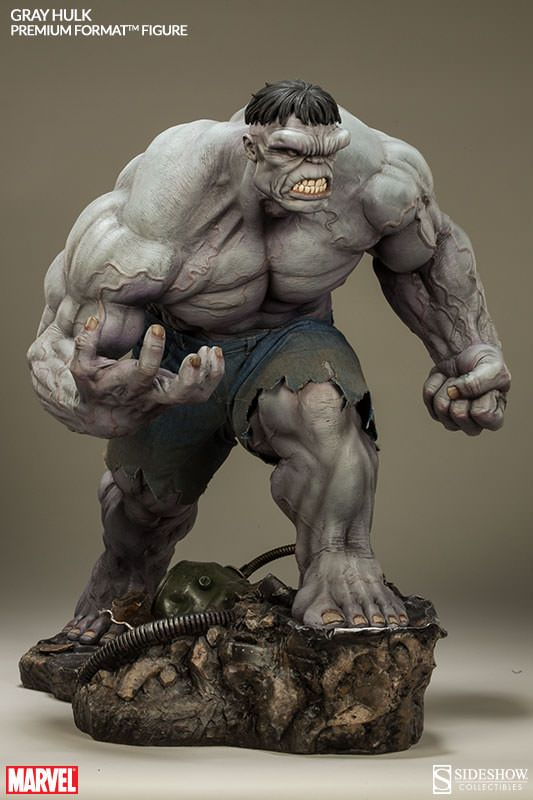 Joining the Incredible Hulk and Red Hulk, Sideshow Collectibles is proud to introduce the Gray Hulk from our Marvel Comics Hulk Premium Format™ Figure series. Description from manofactionfigures.com. I searched for this on bing.com/images