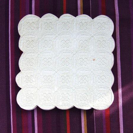 Ceramiczny talerzyk - Kwadratowa