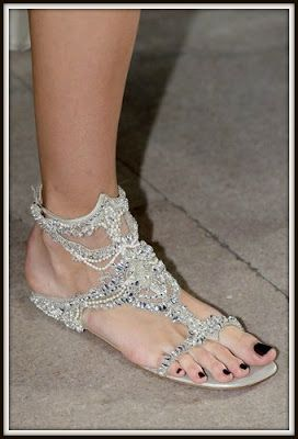 The Perfect Pair Of Bridal Sandals To Change