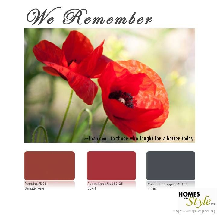 Rememberence Day Colours