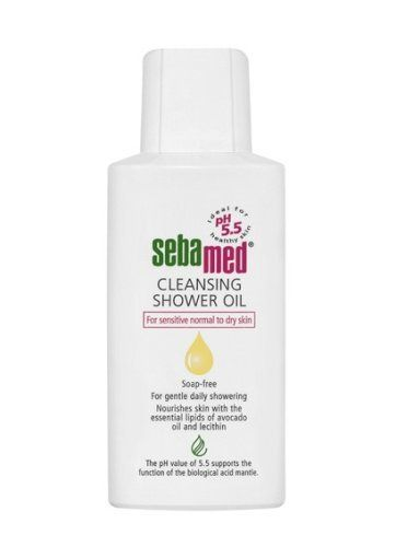 "Sebamed Cleansing Shower Oil, 6.8 Fluid Ounce by Sebamed. $10.17. 100% soap and alkali-free. Same pH as healthy skin  5.5. Hypoallergenic. Dermatologist recommended. With avocado oil and lecithin. All Sebamed products are ""soap free"" and suitable for individuals even with the most sensitive skin.  Sebamed is recommended by dermatologists in over 85 countries and is supported by over 150 clinical studies"