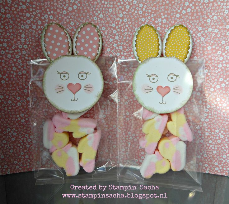 Stampin' Sacha - Stampin' Up! - Annual Catalog 2015/2016 - Occasions Catalog 2016 - Punch Art - Playful Pals - Gusseted Cellophane Bags - Paas Traktatie meisjes (Easter Treats girls) #3