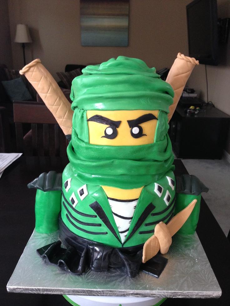 Lego Ninjago cake for boy's 6th birthday.