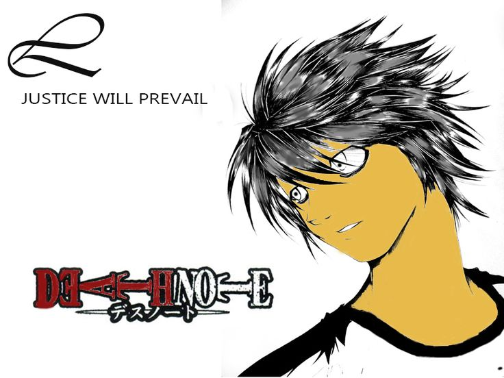 Deathnote L edited in photoshop!!!