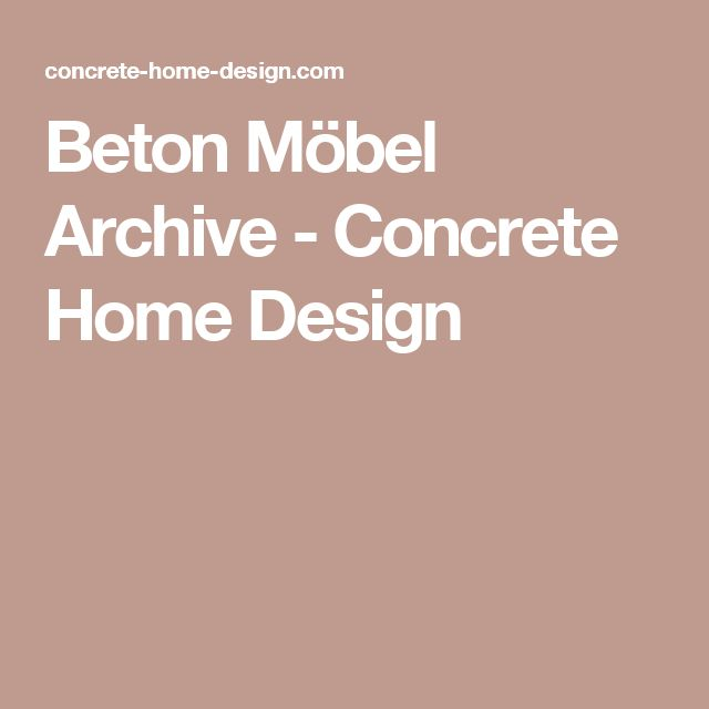 Beton Möbel Archive   Concrete Home Design
