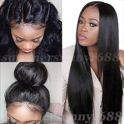 Glueless Lace Front Wigs 100% Indian Human Hair Full Lace Wigs Silky Straight su | Health & Beauty, Hair Care & Styling, Hair Extensions & Wigs | eBay!