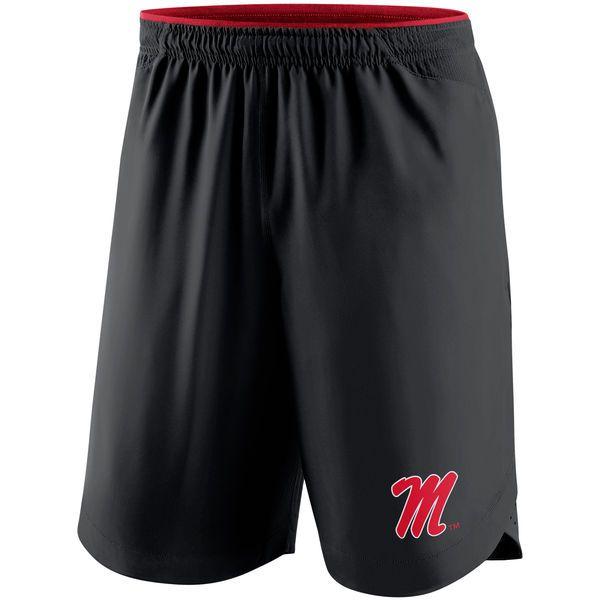 Ole Miss Rebels Nike 2017 Player Vapor Performance Shorts - Black