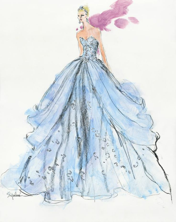 Famous Wedding Gown Sketch Picture Collection - Wedding Dresses and ...