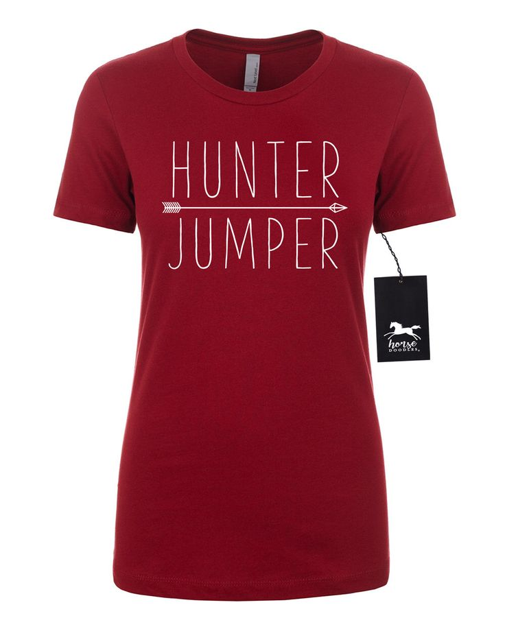 Hunter Jumper | Horse | Equestrian | Women's Fitted Tee | Fashion Fit | Soft by HorseDoodles on Etsy https://www.etsy.com/listing/485275195/hunter-jumper-horse-equestrian-womens