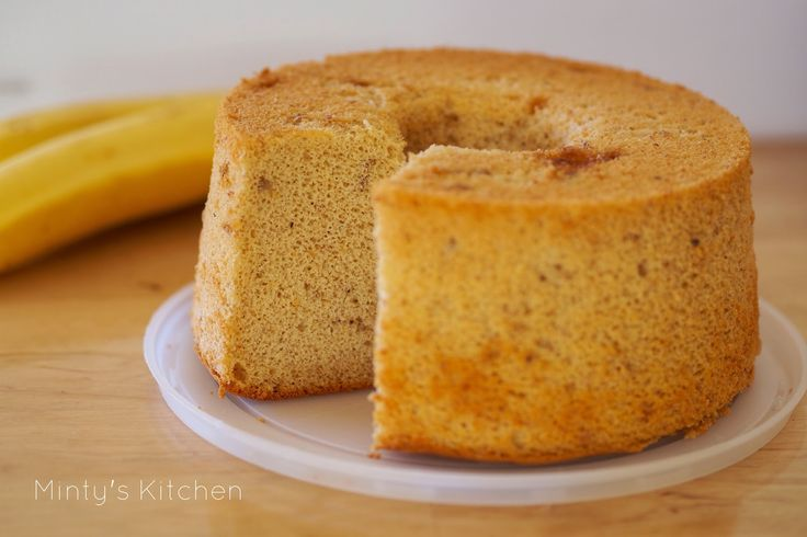 Bake For Happy Kids Banana Chiffon Cake