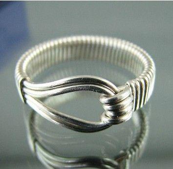 Anillo de plata esterlina loop Custom diseñadora por JensJewellery