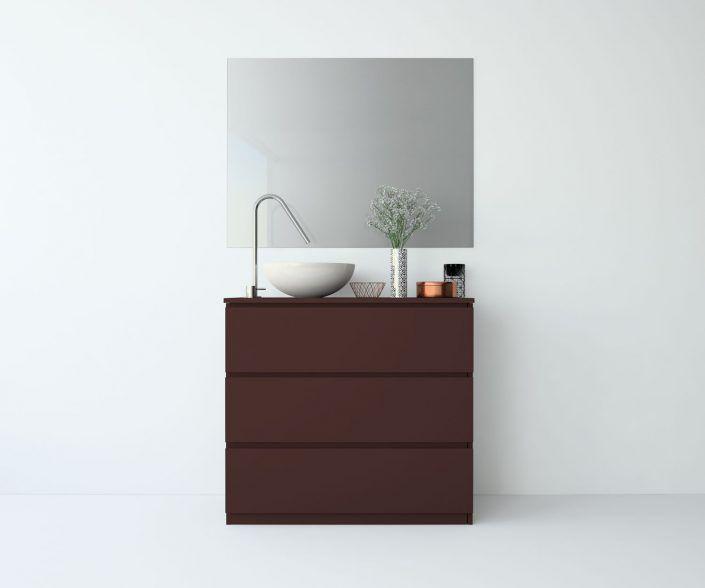 Muebles de baño, propuestas de composiciones para conseguir amplitud en el almacenaje: cajones, puertas correderas, abatibles, huecos vistos, etc. unibaño-compactos-almacenaje-24