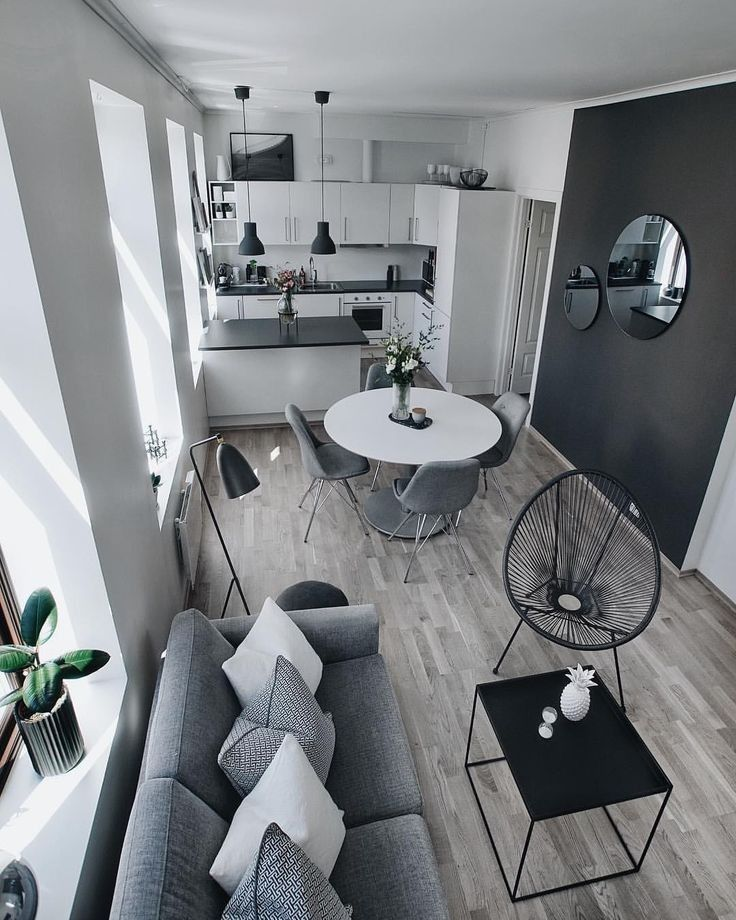 Home Interior Black In 2020 Cheap Apartment Decorating Small