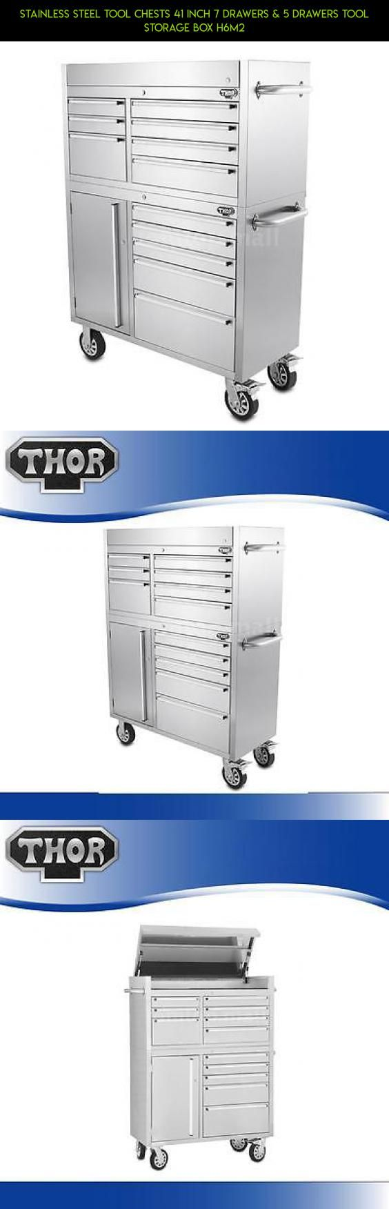 Stainless Steel Tool Chests 41 Inch 7 Drawers & 5 Drawers Tool Storage Box H6M2 #drone #storage #technology #racing #plans #kit #tech #drawers #shopping #gadgets #parts #products #camera #7 #fpv
