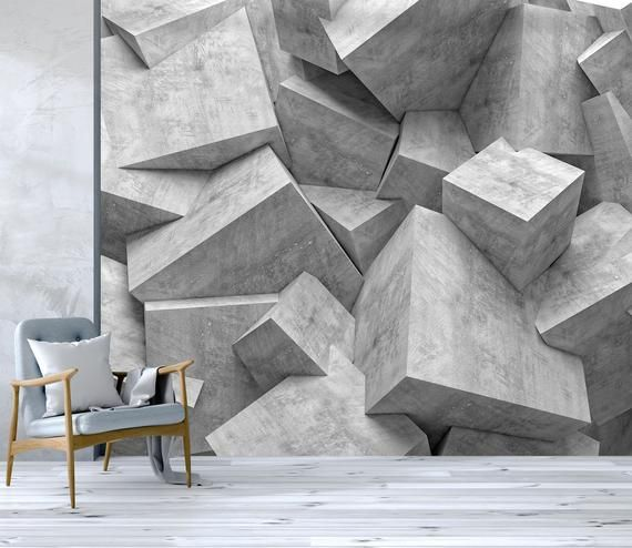 3d Grey Tones Stone Wallpaper Removable Self Adhesive Etsy In 2021 Stone Wallpaper Wall Murals 3d Wallpaper For Walls