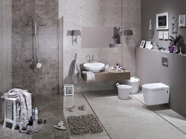 Naturalna i uniwersalna aranżacja łazienki
