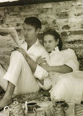 Wyatt Cooper (hometown-Meridian, MS) and his wife, Gloria Vanderbilt, parents of Anderson Cooper.  (from A Place To Dwell)