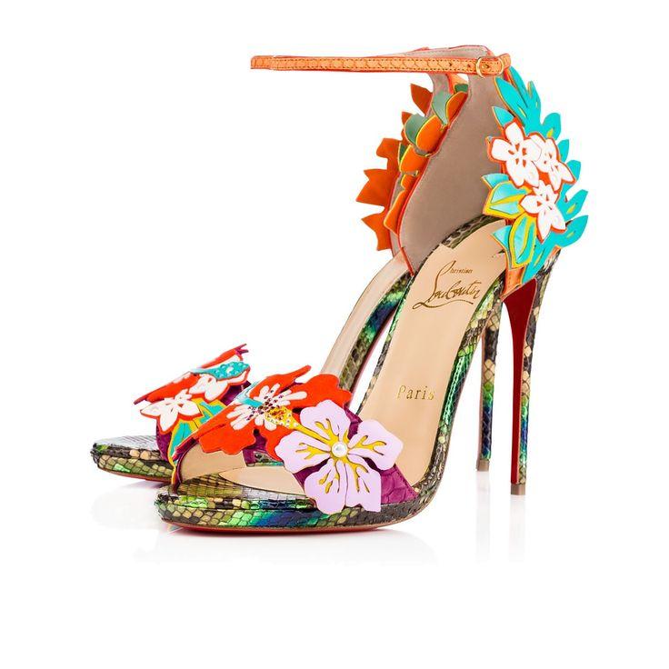 Chaussures femme - Ha Why Luna Python - Christian Louboutin